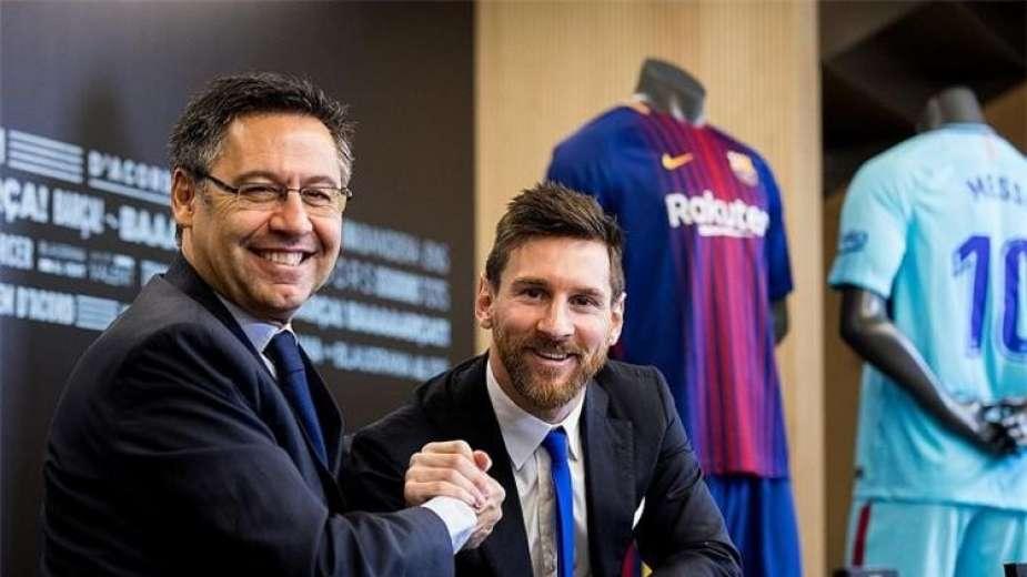 بالفيديو.. لحظة القبض على بارتوميو رئيس نادي برشلونة الاسباني