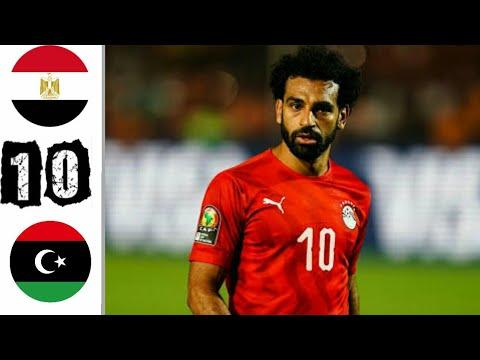 ملخص ونتيجة مباراة مصر ضد ليبيا في تصفيات كأس العالم 2022